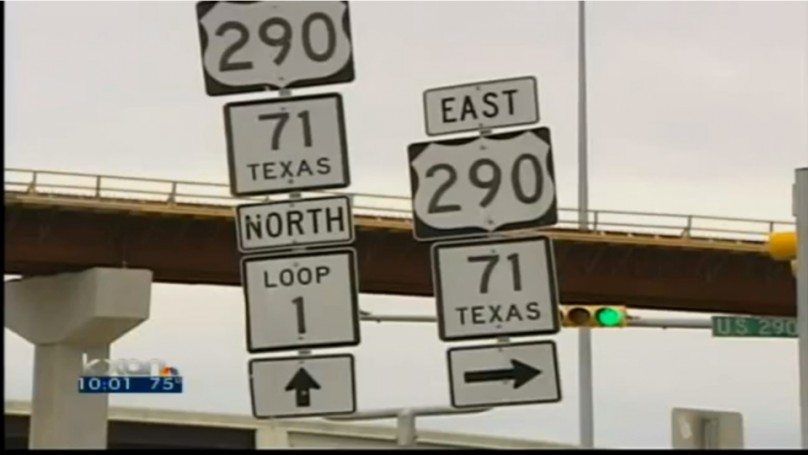 Road sign damages car, state won't pay