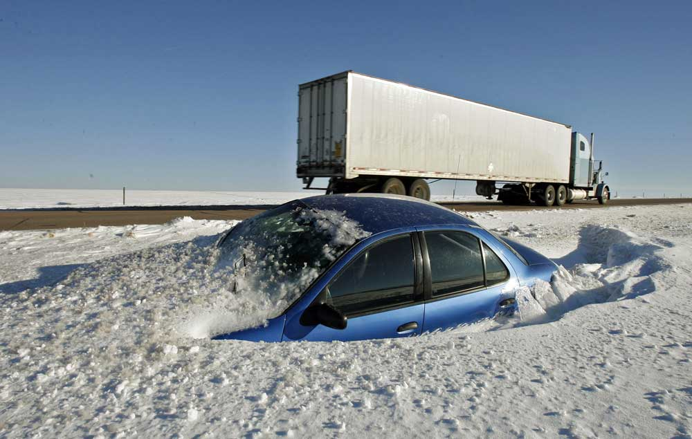 Here's how to survive driving in a winter storm