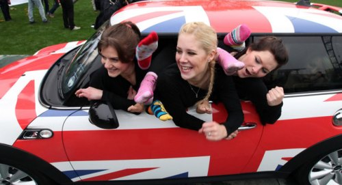 How many ladies can fit inside this MINI? Enough for a world record