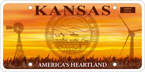 Kansas releases list of banned licence plates