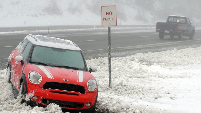 Sometimes, it's hard to find common sense on winter roads