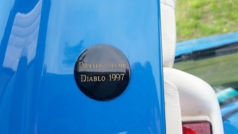 Donald Trump gives his Diablo <br>his personal badge of approval