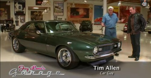 Comedian/actor Tim Allen and his '68 COPO Camaro paid Jay Leno's Garage a visit and you can pretty much guess how much of a love-in that turned out to be.
