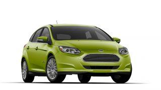Ford Focus EV in greenery