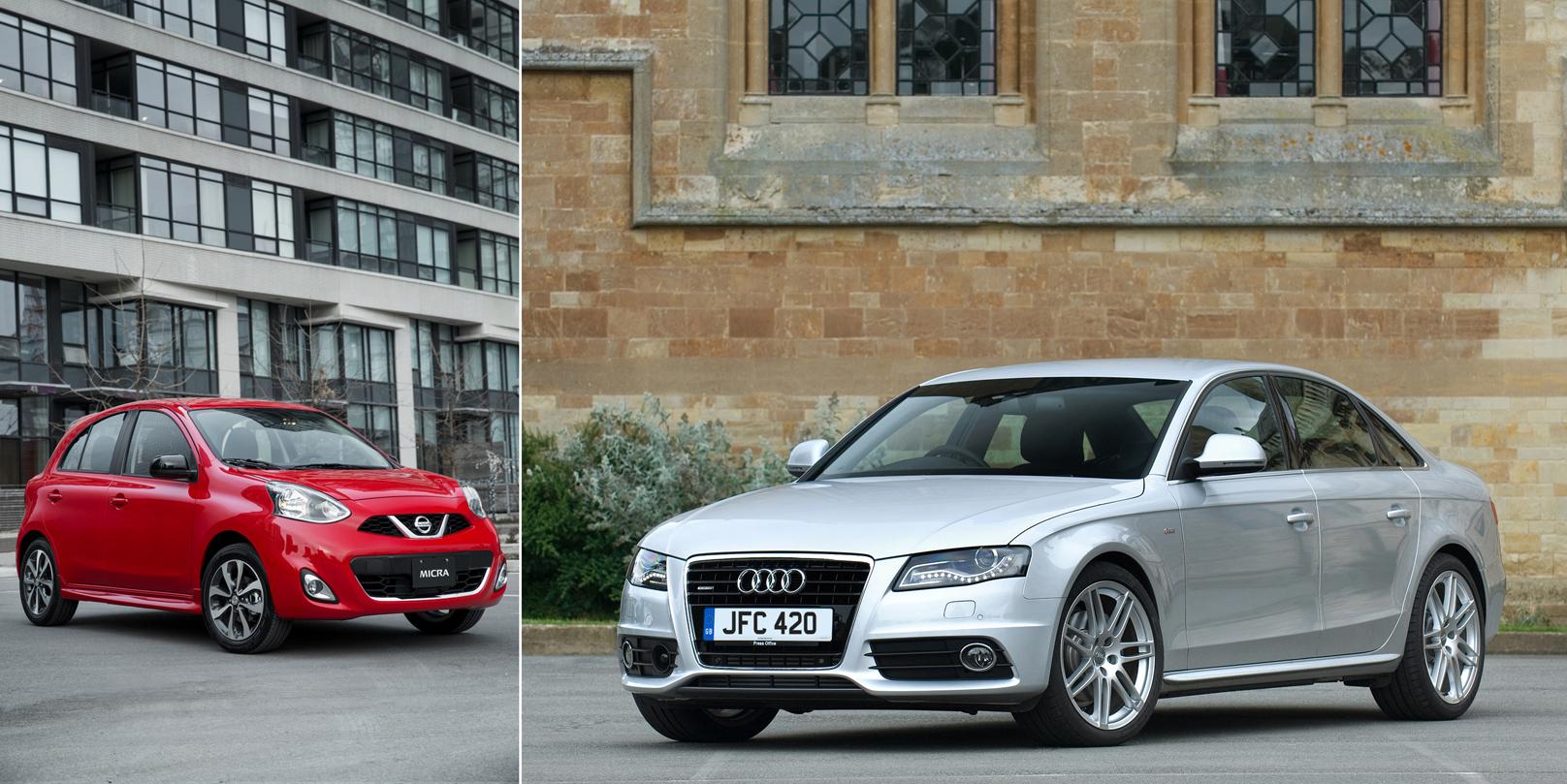 Nissan Micra vs Audi A4
