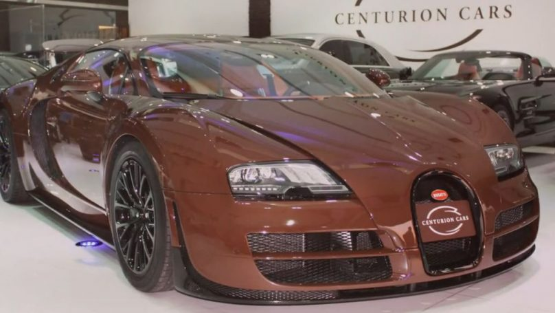 Sewage-hued Bugatti