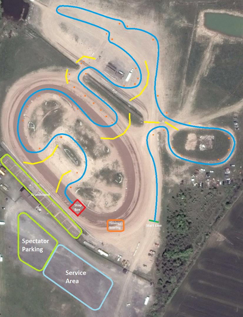 TrackWorthy - KWRC Rallycross course at New Humberstone Track