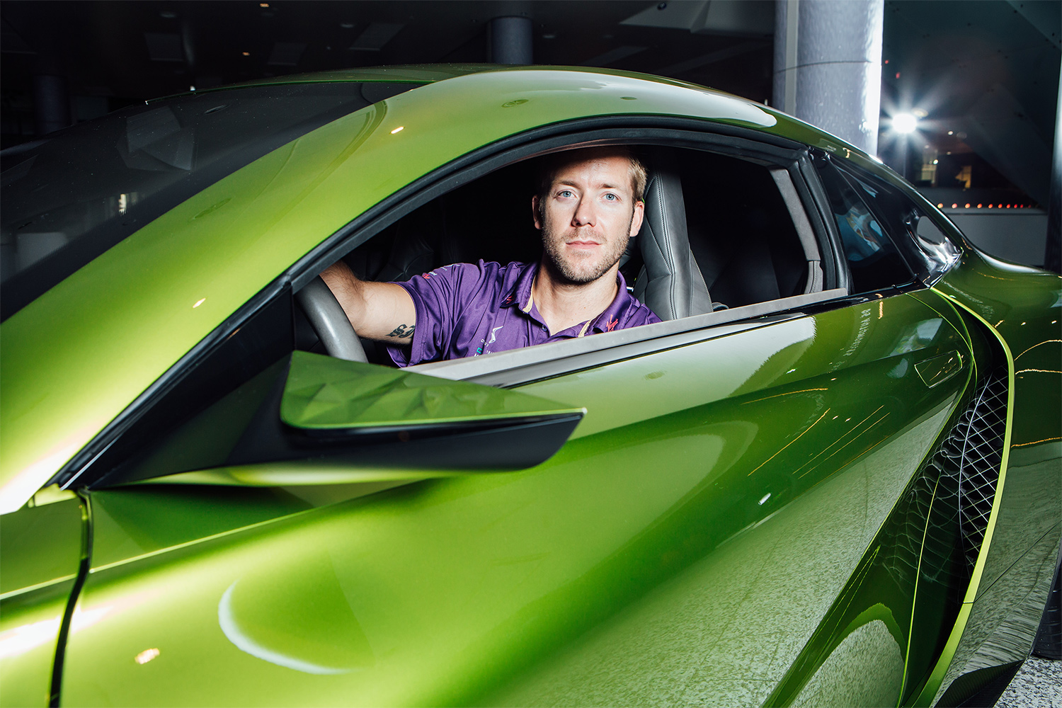 TrackWorthy - Sam Bird with DS E-Tense at DS Urban Store in Westfield London (2)