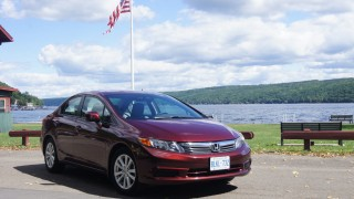 Honda Civic makes a snap of Finger Lakes