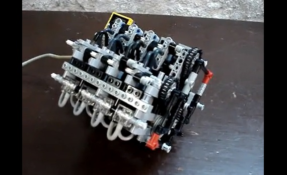 Watch an engine built out of Lego really run