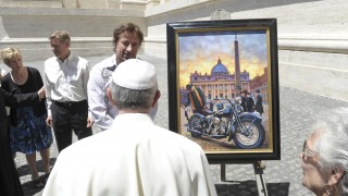 Pope to give Harleys his blessing