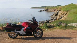 Touring on a motorcycle  around the Cabot Trail  is a true Canadian treat