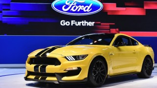 Yellow Shelby GT350 limited car