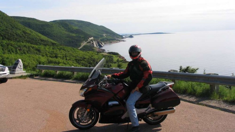 Motorcycle on Cabot Trail