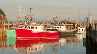 Popular lobster fishing village Alma on New Brunswick coast