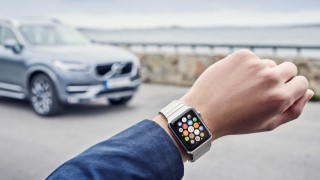 Volvo On Call app in the Apple Watch