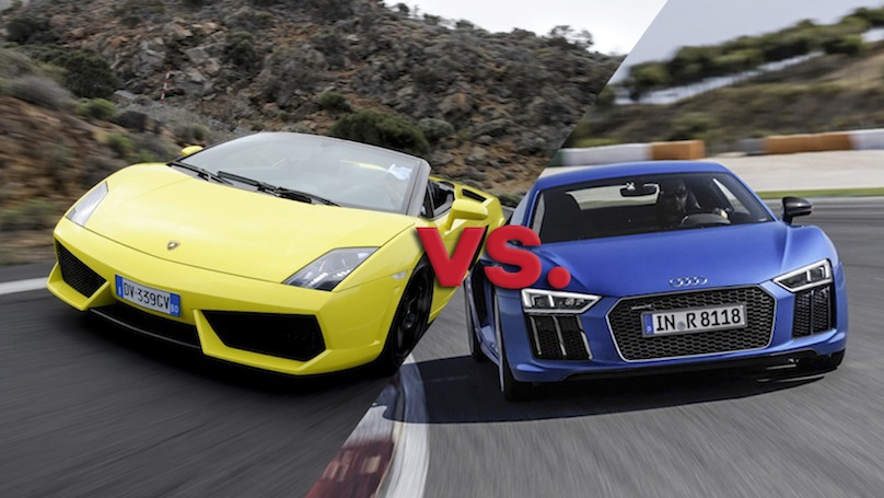 The Audi R8 V10 Vs Lamborghini Gallardo 560 4 Wheels Ca