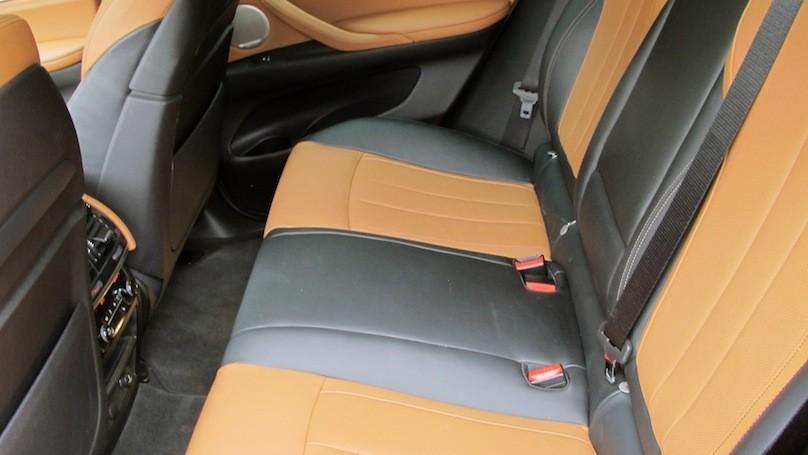 BMW X6 2015 back seat