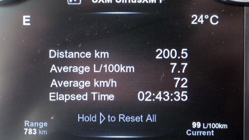 Ram EcoDiesel fuel gauge