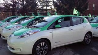 All electric Montreal cabs