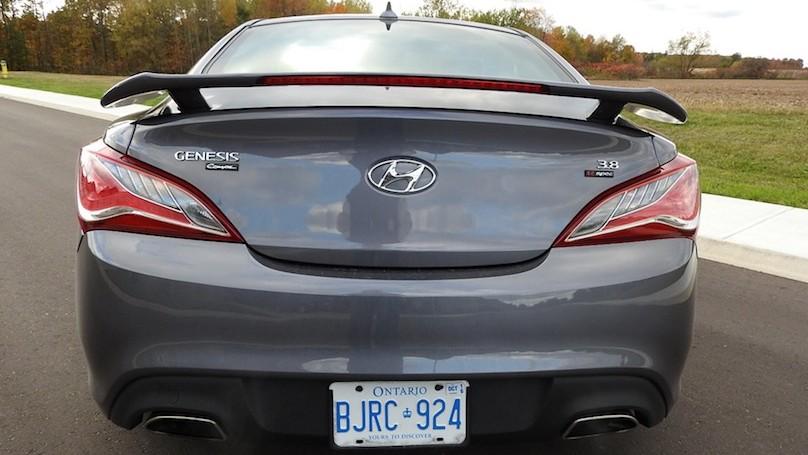 Hyundai Genesis R-Spec rear