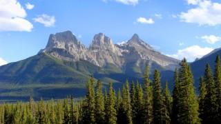 Three Sisters peaks near Canmore, Alberta