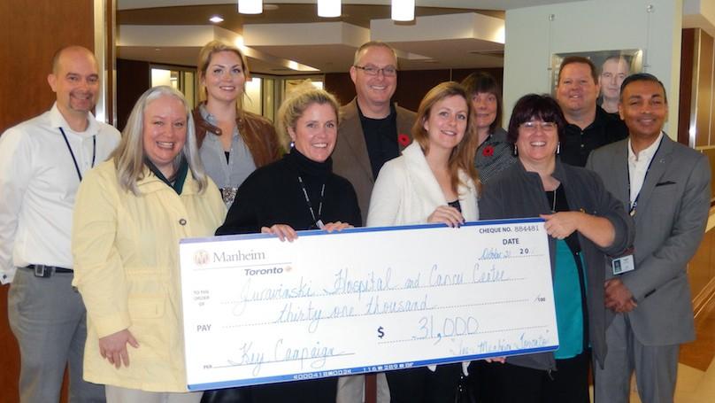 Manheim Toronto donates to Hamilton Cancer Centre – WHEELS ca