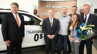 Hyundai 2 millionth quebec