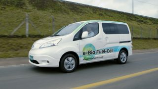 Nissan solid oxide fuel cell