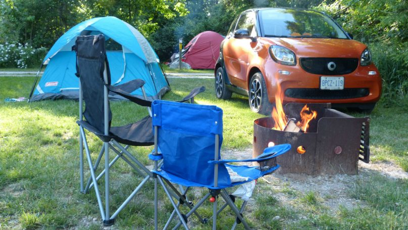Smart ForTwo On A Camping Trip Why Not WHEELSca