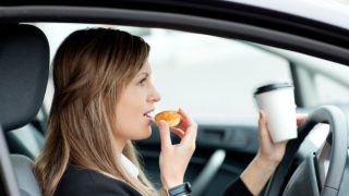 distracted driving eating