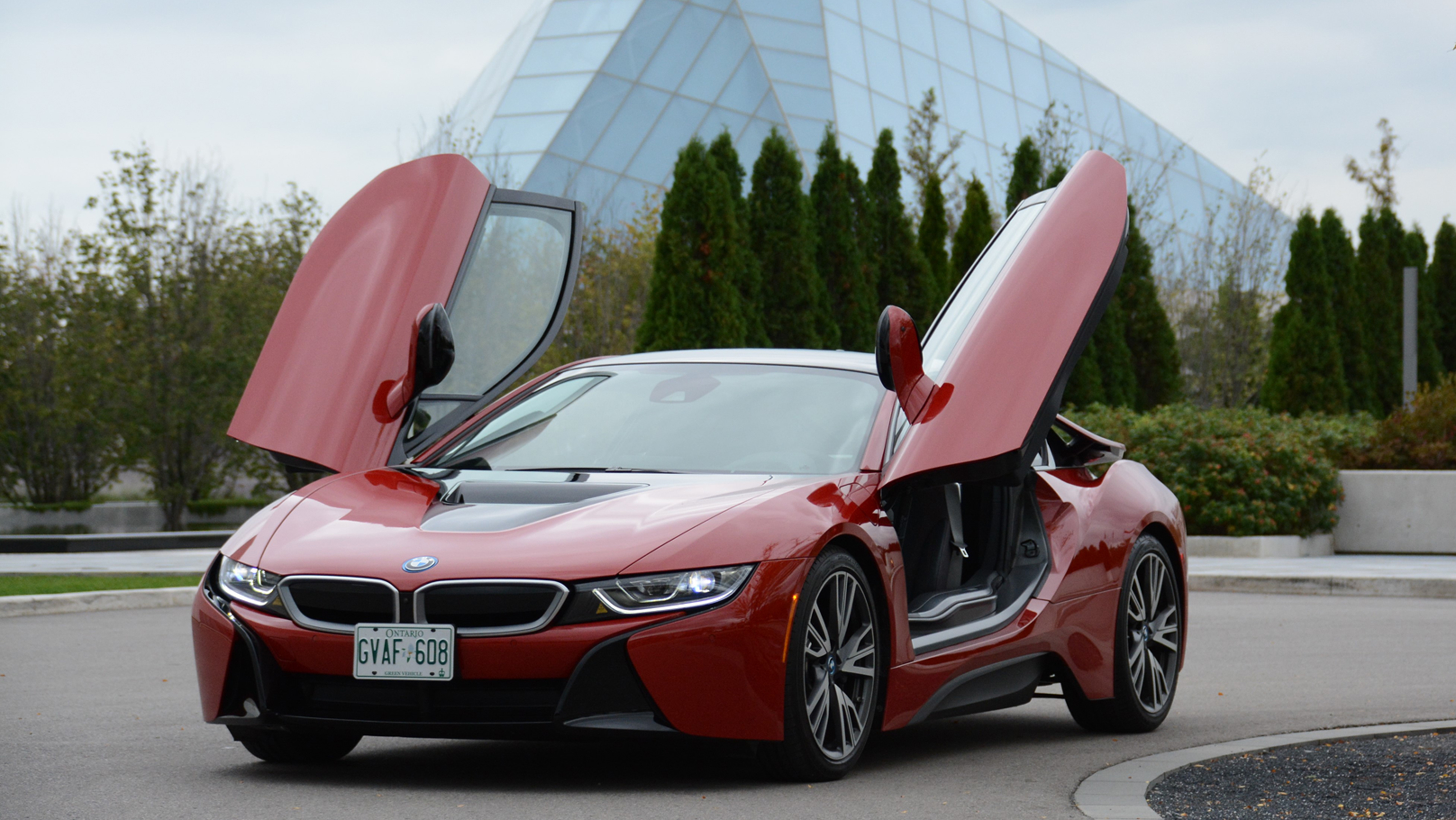 2017 Bmw I8 Protonic Red Edition Plug In Hybrid Review Wheels Ca