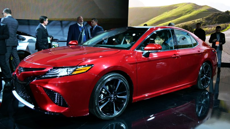 toyota shows sexy new camry in detroit. Black Bedroom Furniture Sets. Home Design Ideas
