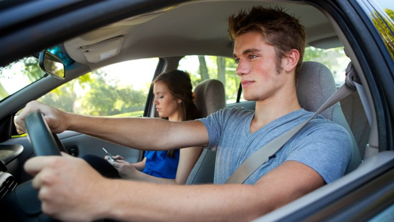 teenagers driving