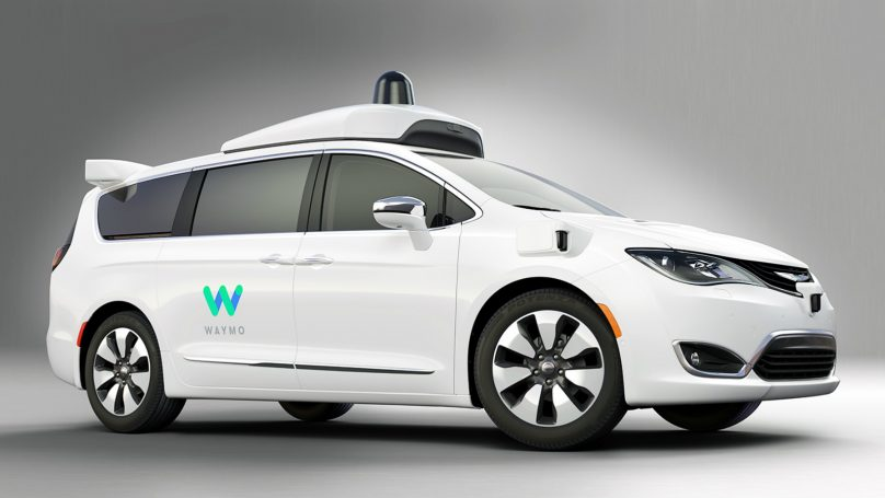 Chrysler Waymo self drive fleet