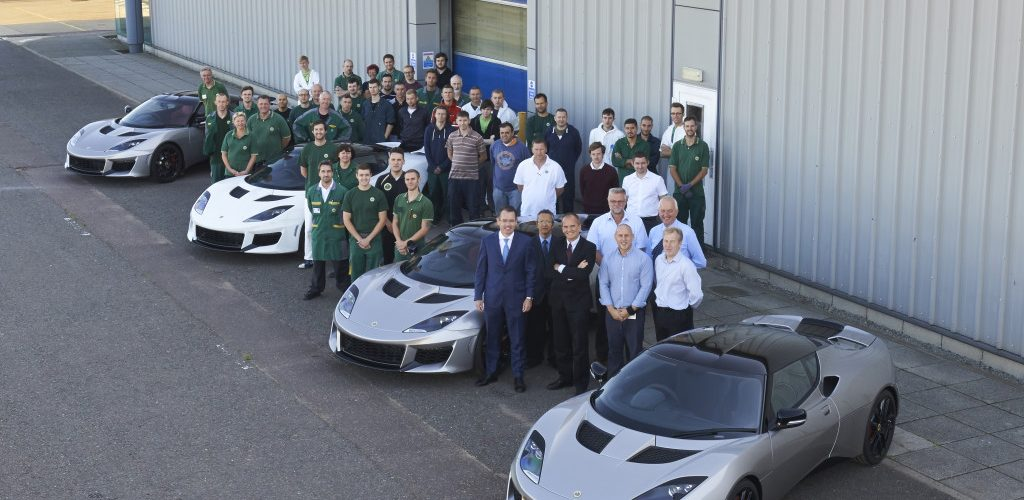 TrackWorthy - Evora-400-with-Jean-Marc-Gales-CEO-of-Group-Lotus-plc-and-some-of-the-engineering-and-manufacturing-team-1024x683