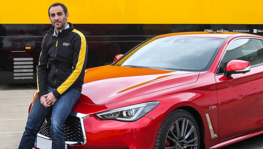 TrackWorthy-Renault-Sport-Formula-One-Team-Managing-Director-Cyril-Abiteboul-and-the-INFINITI-Q60S-3-cropped