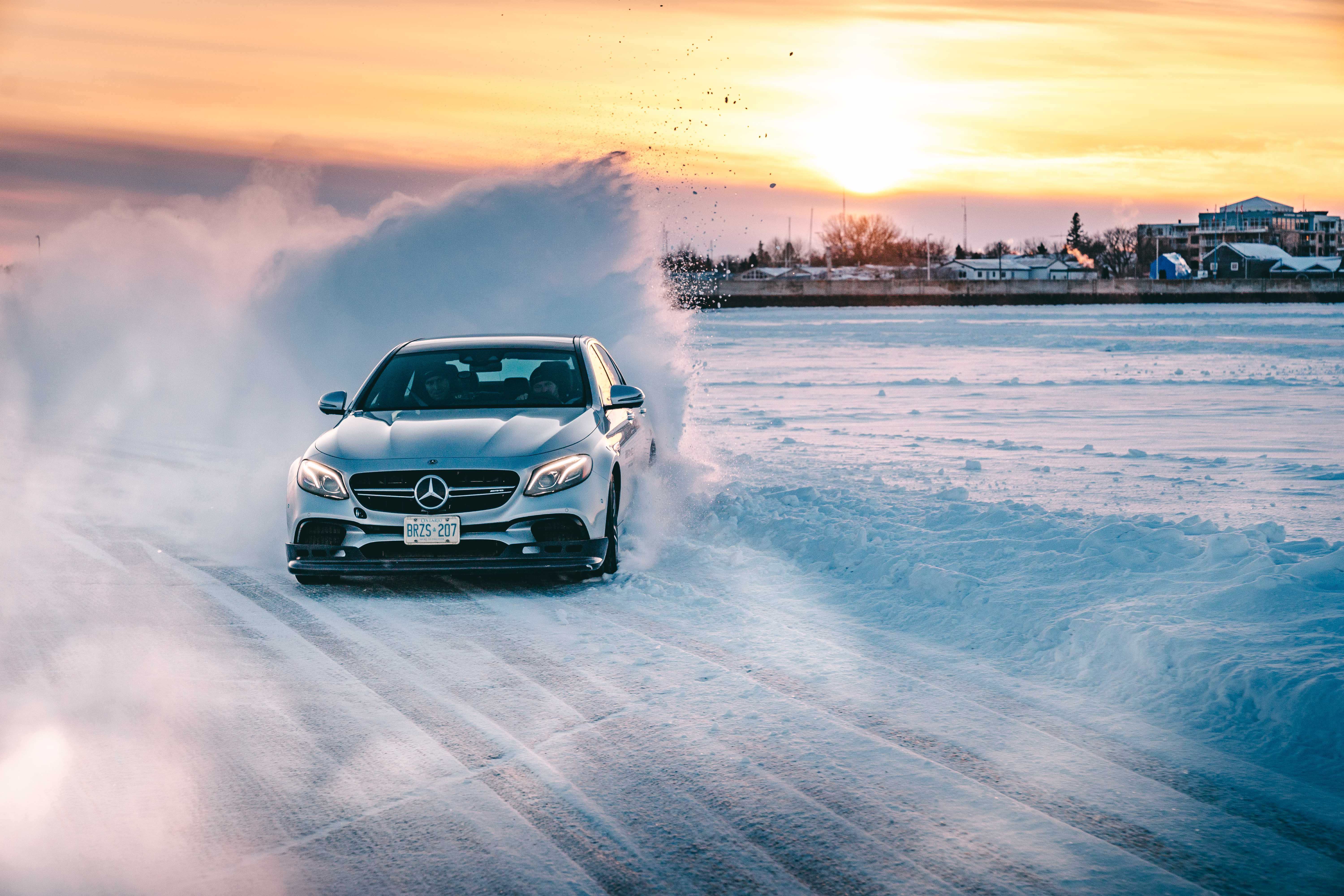 Amg Driving Academy >> Learning How to Drift Like a Pro on AMG's Frozen Racetrack ...