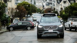 volvo self driving uber