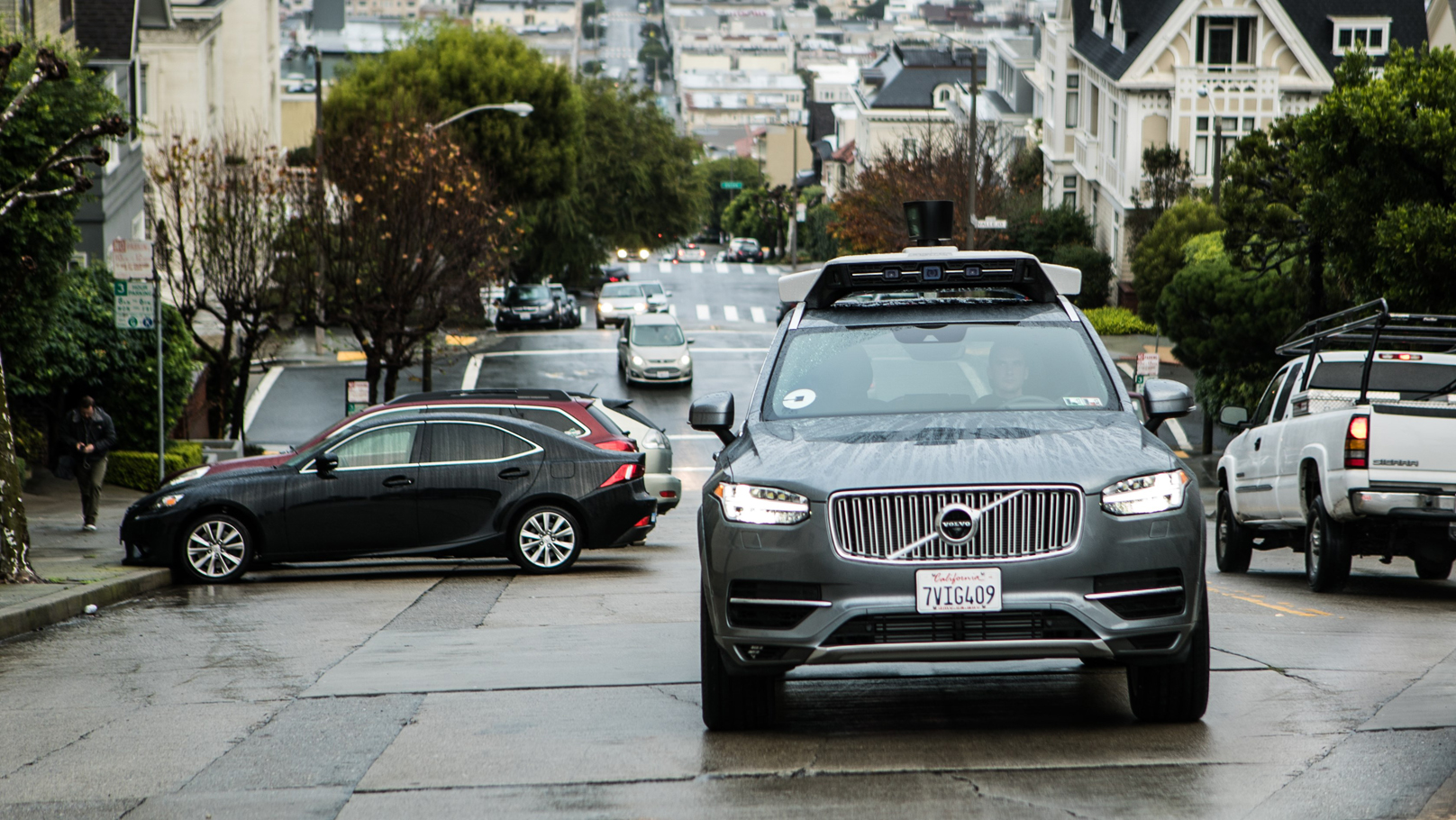 volvo self driving uber
