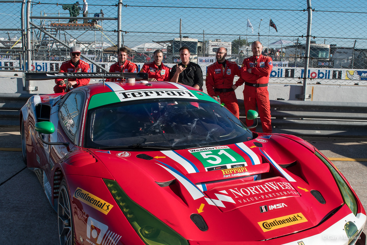 TrackWorthy - Weathertech Fan Grid Walk No. 51 Ferrari team - Paul Dalla Lana
