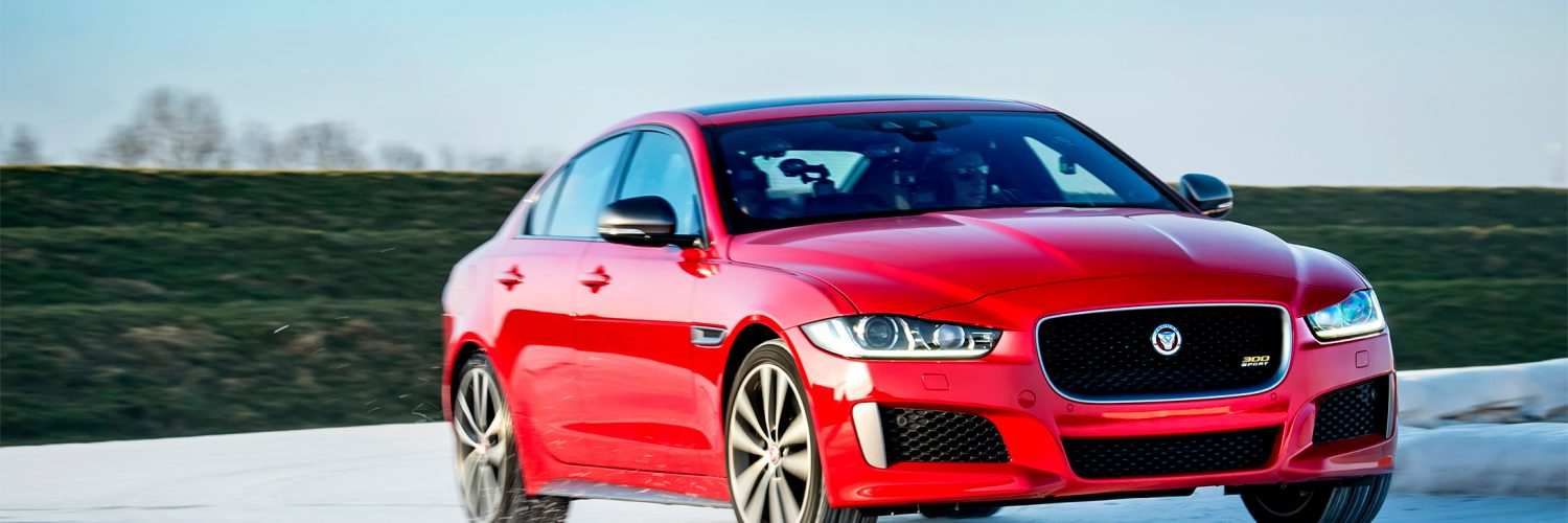 TrackWorthy - 2019 Jaguar XE 300 SPORT vs. Olympic Speed Skater (8)