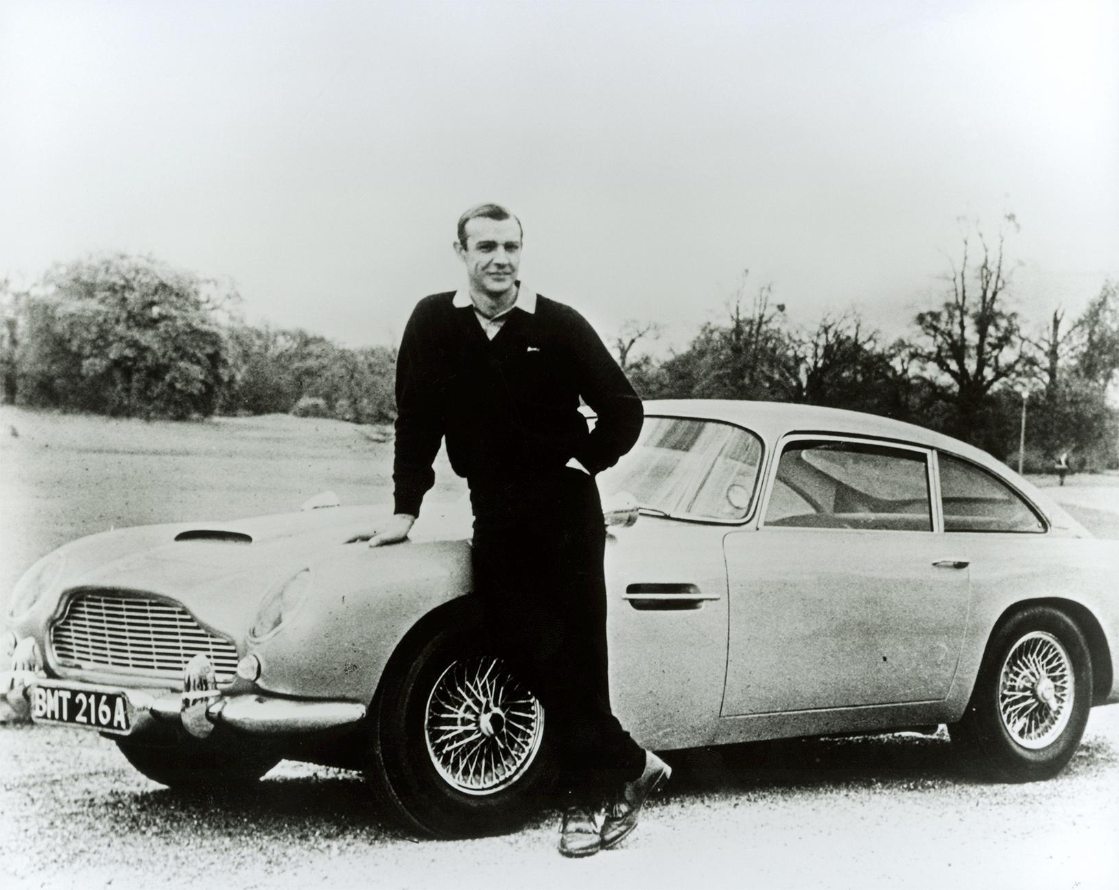 TrackWorthy - Aston Martin DB5 and Sean Connery