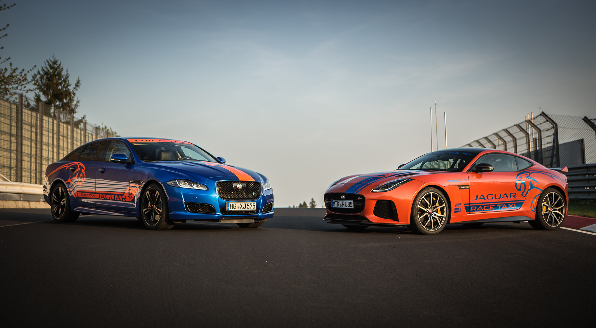 TrackWorthy - Jaguar F-TYPE SVR and XJR575 Nurburgring Race Taxis (1)