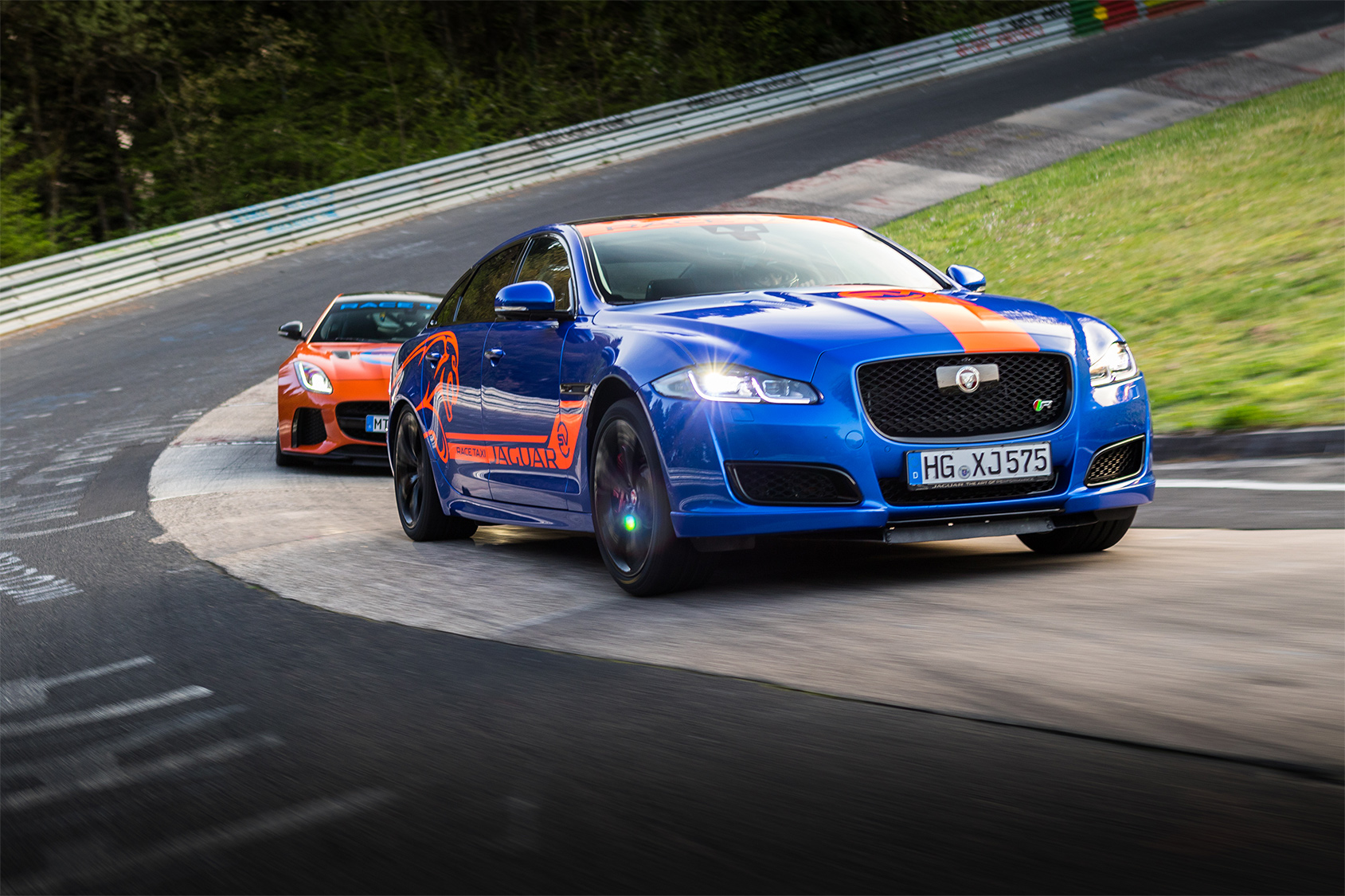 TrackWorthy - Jaguar F-TYPE SVR and XJR575 Nurburgring Race Taxis (3)