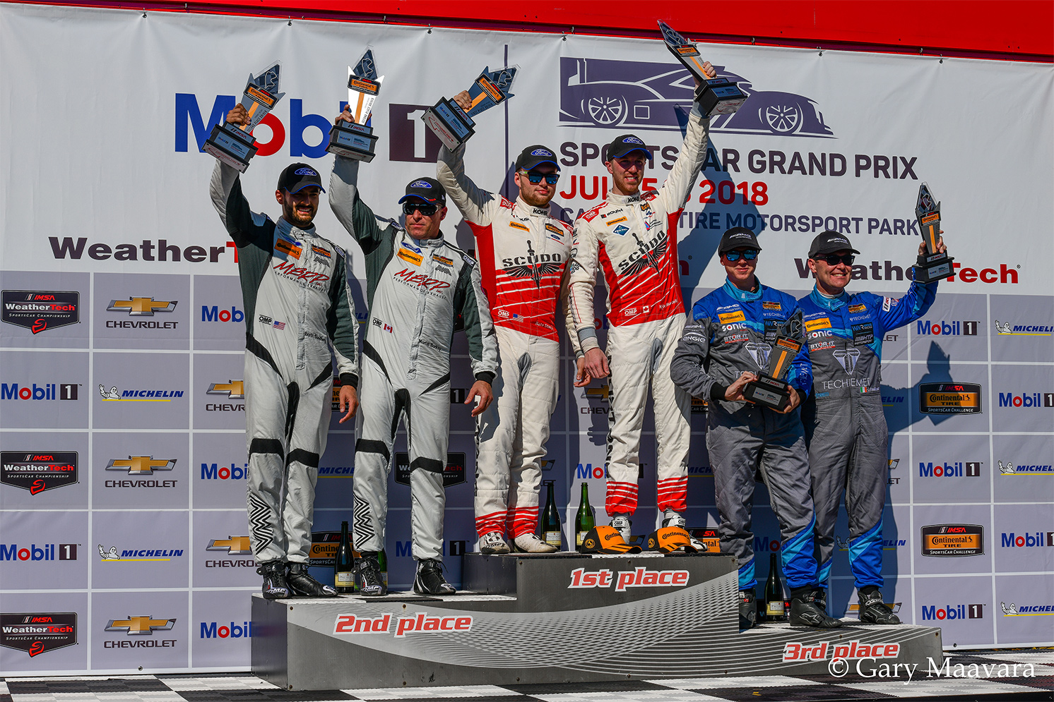 TrackWorthy - Continental Tire race_ Winning teams on the podium
