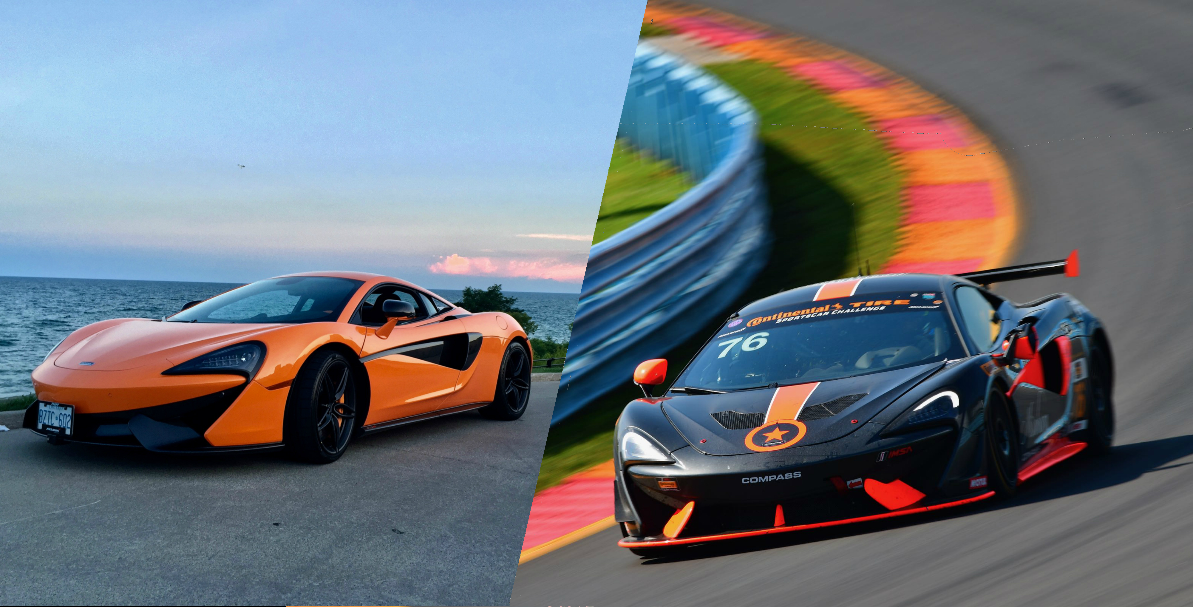 Road Car vs Racecar McLaren 570S vs GT4