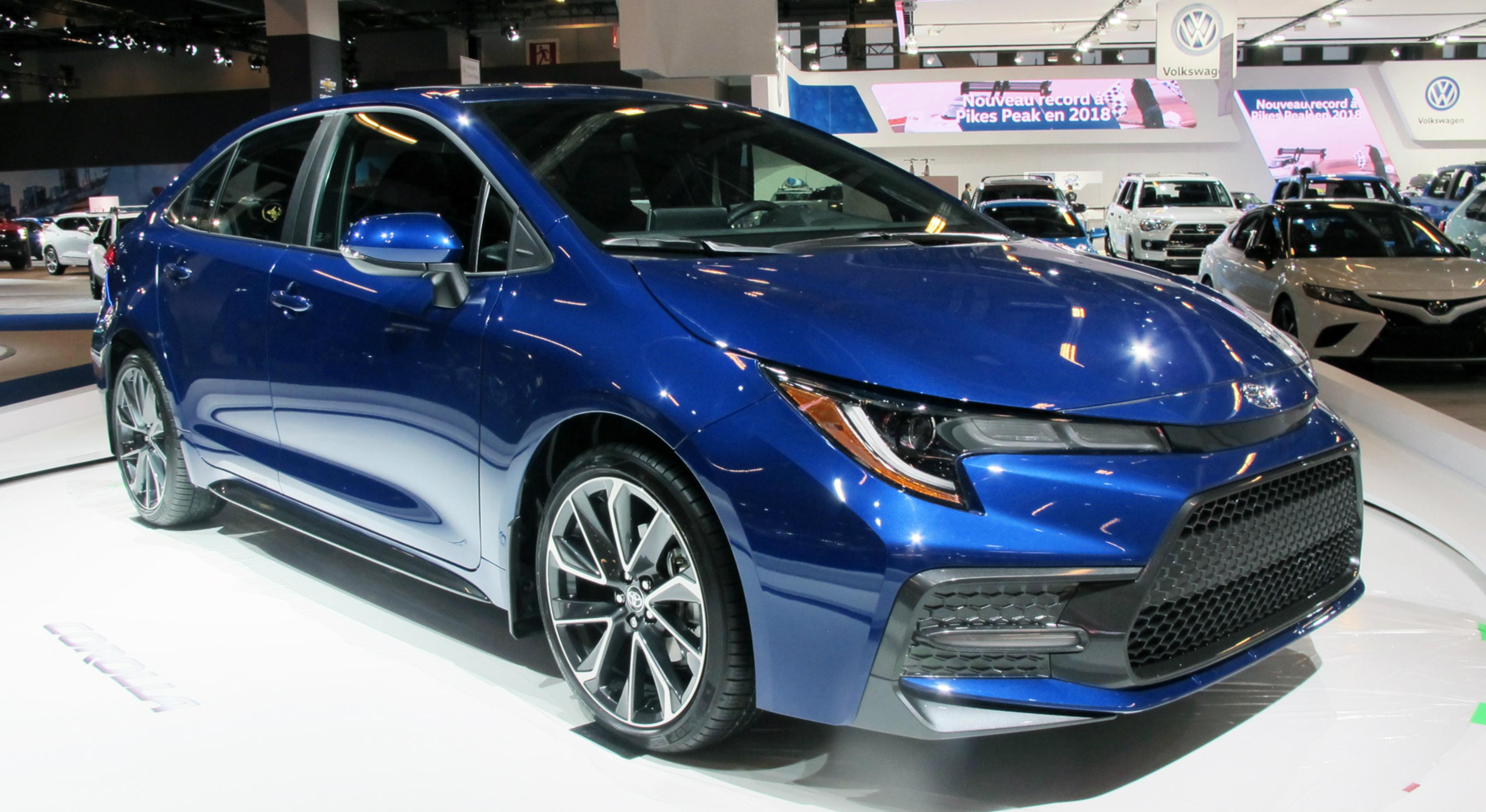 2020 Corolla sedan