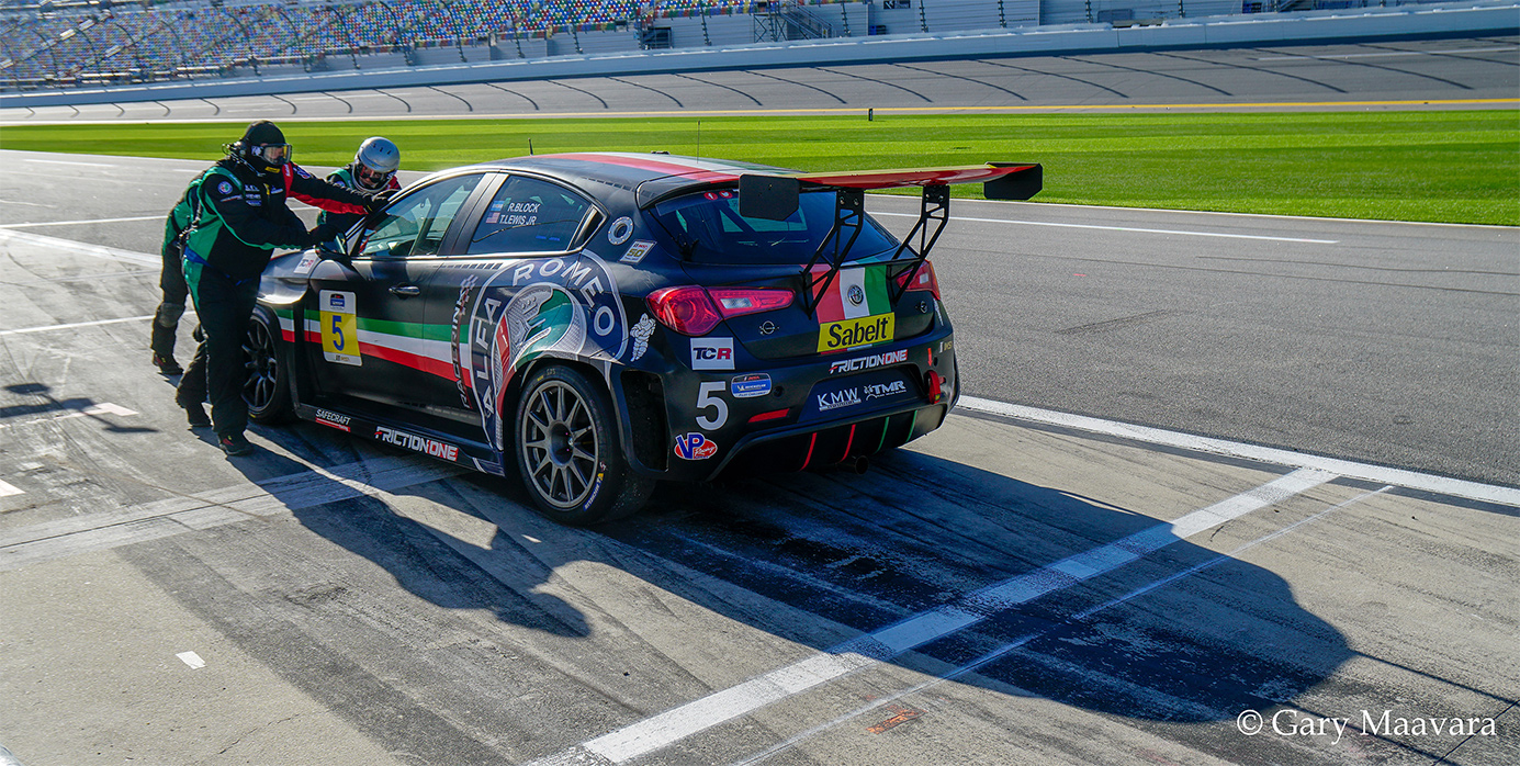 TrackWorthy - Michelin Pilot Challenge Daytona No. 5 Alfa Romeo Retirement