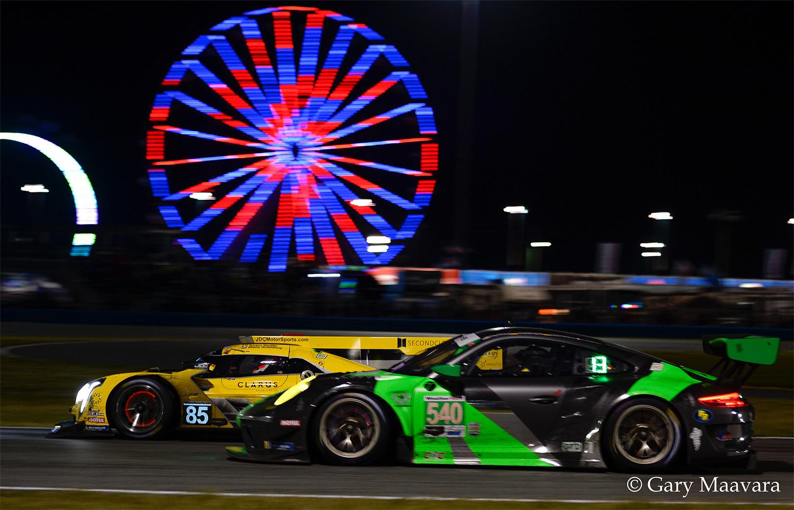 TrackWorthy - Rolex 24_ race_#85_Cadillac CPi-VR_#540_Ferris Wheel at night